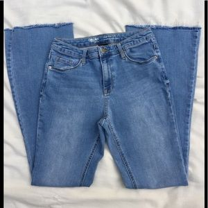 Mossimo High Rise Jean flare power stretch 8/29